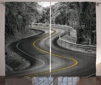 Asphalt Road Curtain