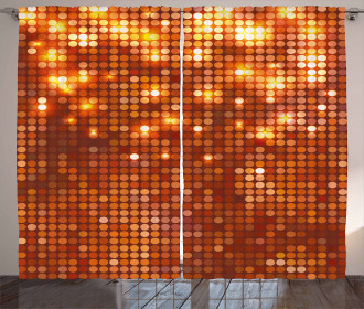 Vivid Dots Mosaic Curtain