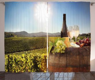 Famous Chianti Vineyard Curtain