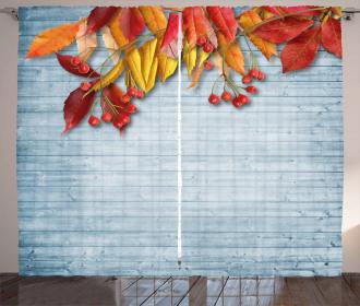 Vintage Rustic Autumn Curtain