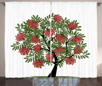 Tree Full of Fruits Art Curtain