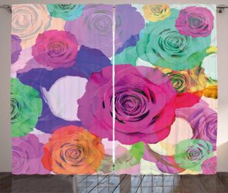 Floral Arrangement Roses Curtain