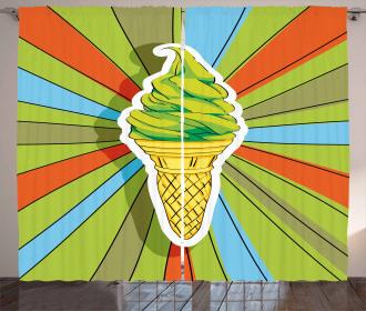 Ice Cream on a Cone Curtain