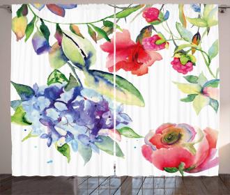 Summer Flowers Branch Curtain