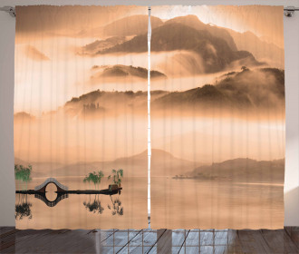 Chinese Lake Landscape Curtain