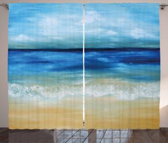 Tropical Sandy Beach Curtain