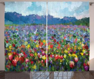 Rural Landscape Tulip Curtain