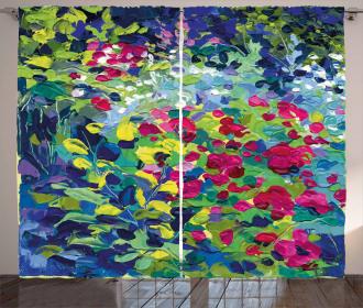 Floral Field Summer Curtain