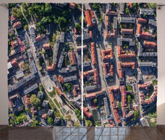 Aerial Olesnica Poland Curtain