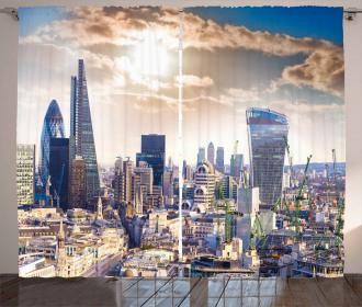 Modern London Dramatic Sky Curtain