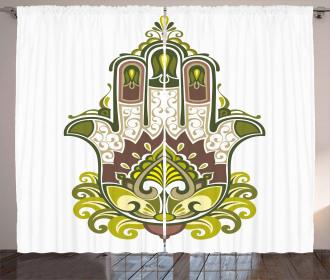 Asian Mandala Paisley Curtain