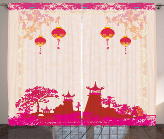 Asian Landscapes Curtain