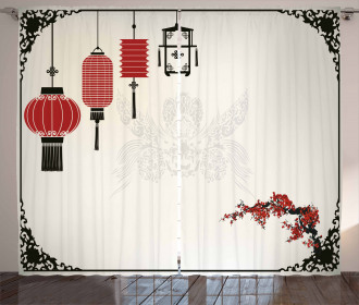 Minimalist New Year Curtain