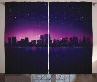 City Skyline Urban Life Curtain
