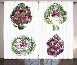 Vegetables Diet Food Curtain