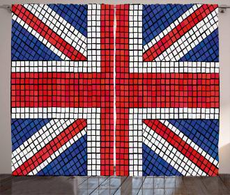 Mosaic British Flag Curtain