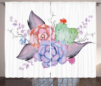 Romantic Summer Blossoms Curtain