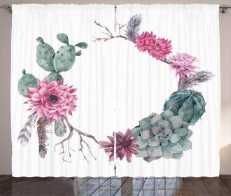 Vintage Summer Floral Curtain