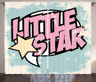 Grunge Retro Star Curtain