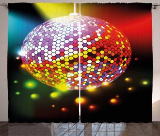 Vivid Disco Ball Curtain