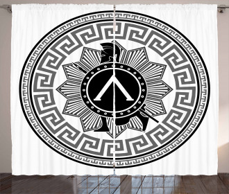 Spartan Figure Icon Curtain
