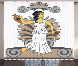 Woman with Amphora Curtain