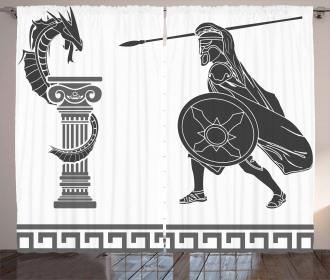 Hero and Dragon Myth Curtain