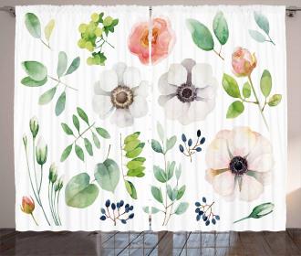 Floral Elements Curtain