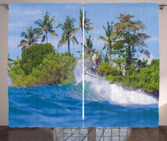 Bali Island Hobby Curtain
