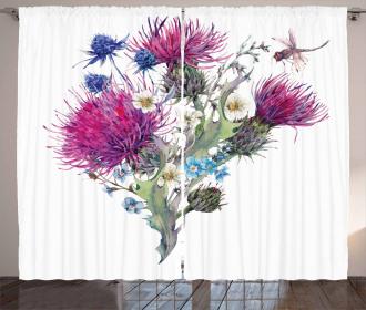 Summer Meadow Herbs Curtain