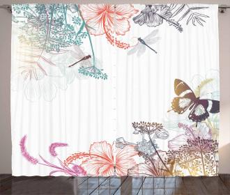 Flowers Herbs Artsy Curtain