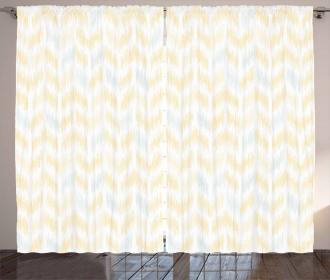 Ikat Style Tile Curtain