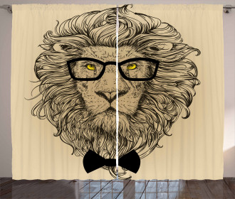 Dandy Cool Lion Character Curtain