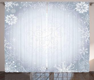 Christmas Frame Swirls Curtain