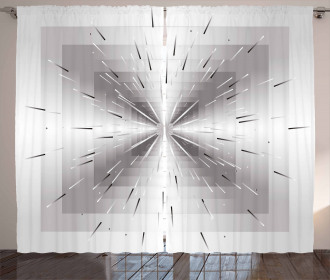 Squares and Lines Design Curtain