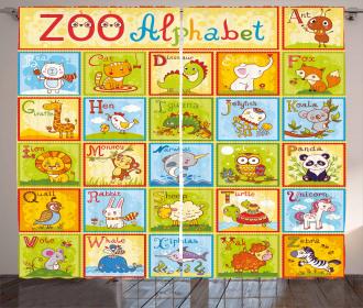 Zoo Alphabet Style Curtain