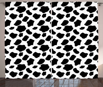 Cow Skin with Spots Curtain