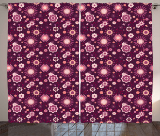 Abstract Floral Cute Curtain