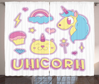 Magical Dream Icons Curtain