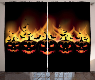 Jack o Lanterns Curtain