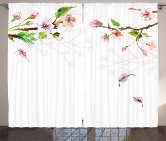 Apple Tree in Spring Curtain