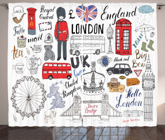 London Double Decker Bus Curtain