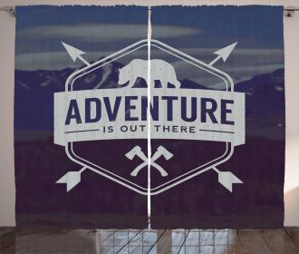 Bear Mountain Logo Curtain