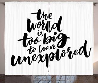 Explore the World Curtain
