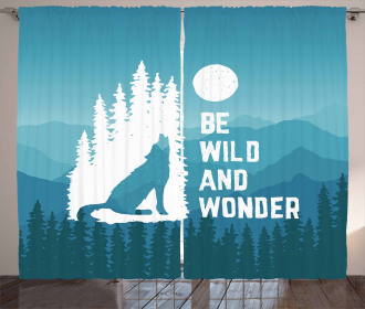Be Wild and Wonder Curtain