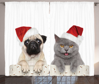 Christmas Themed Dog Photo Curtain