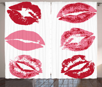 Faded Looking Kissess Worn Curtain