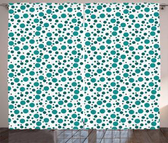 Retro Polka Dots Artistic Curtain
