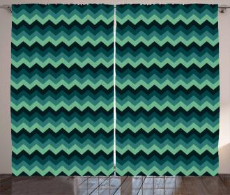 Chevron Style Geometric Curtain