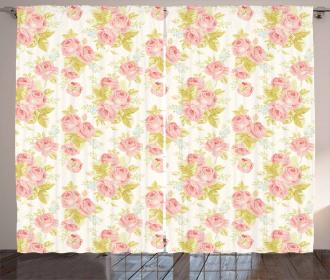 Soft Victorian Flourish Curtain